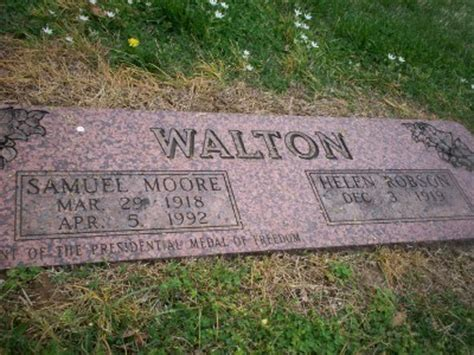 samuel sam walton grave of a person on