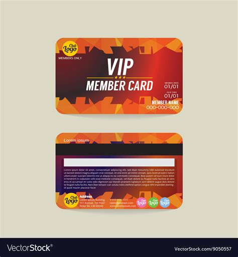 Vip Membership Card Template by Membership Card Template Image Collections Template