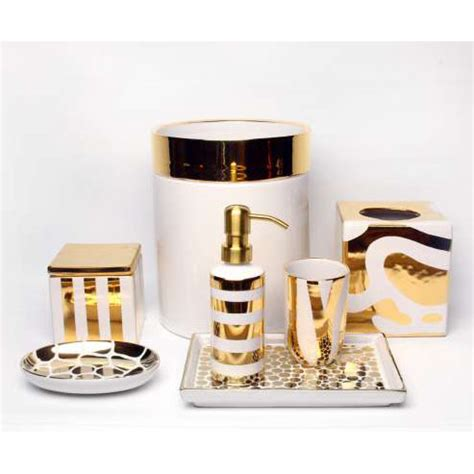 white and gold bathroom accessories ceramic bath accessories by waylande gregory gracious style