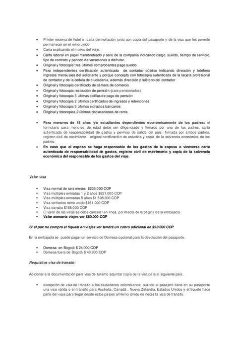 carta de invitacion visa canadiense visas reino unido documentaci 243 n tramites www viajesver