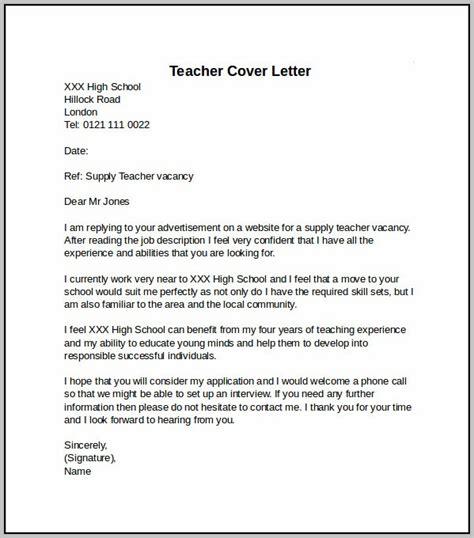 Teaching Cover Letter Pdf sle cover letter for teaching position cover