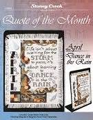 Kain Aida Kristik Cross Stitch 14ct Garden Pearl Blue quote of the month november grateful stoney creek store
