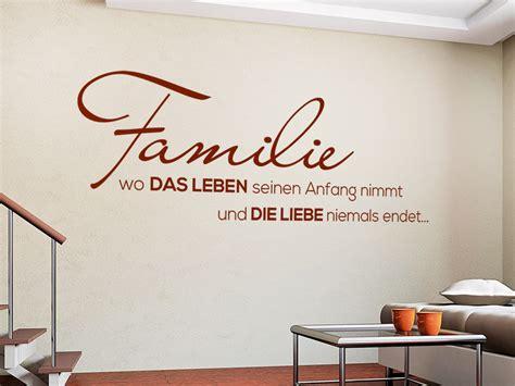 Baum Für Die Wohnung 3035 by Wandtattoo Schriftzug Familie Bei Homesticker De