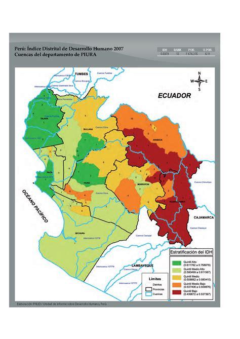 cuadro de merito piura 2016 indice de desarrollo humano distrital 2007 cuencas de