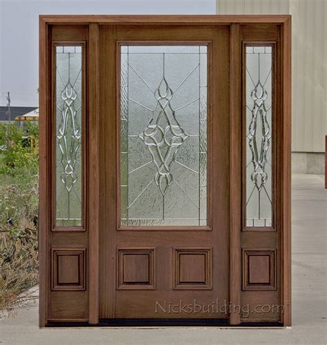 Affordable Front Doors Affordable Mahogany Front Doors With Walnut Finish