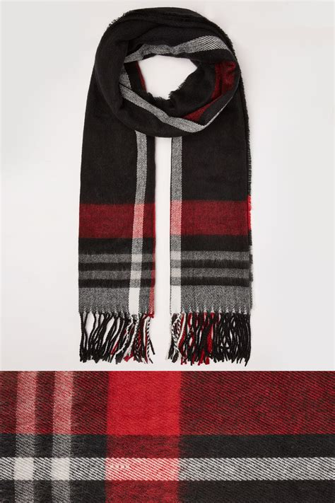 Buy Gift Cards With Checking Account - black red check oversized blanket scarf with tassels