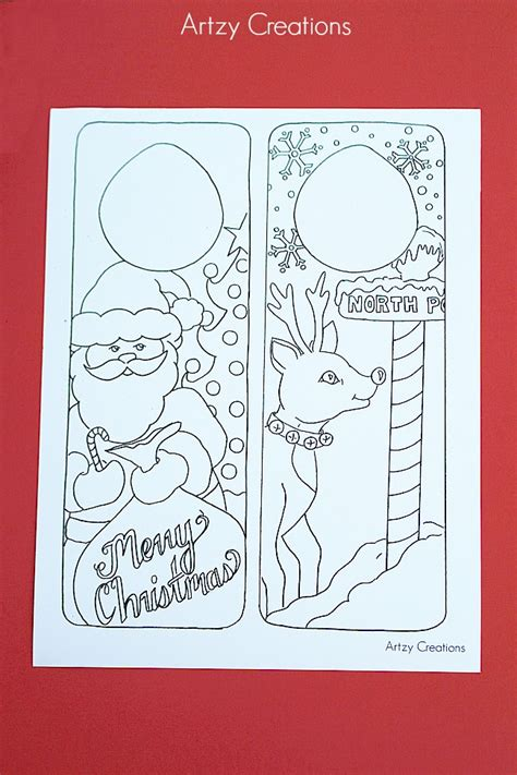 christmas arts and crafts printables coloring page door hanger printables the 36th avenue
