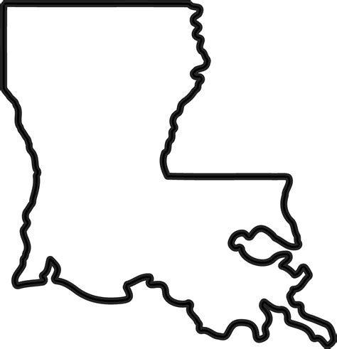louisiana map black and white louisiana outline rubber st state rubber sts
