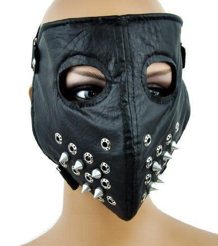 black road warrior motorcycle mask w spikes steunk