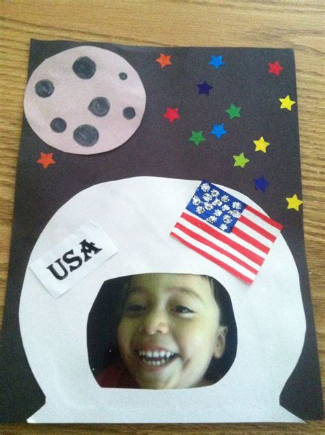 astronaut craft for astronaut craft pre cut moon and flag you like