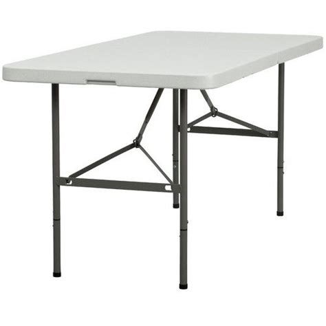 4 Foot Folding Table Duragood 4 Foot Rectangular Plastic Folding Utility Table Lifetime Warranty White 171 Patio