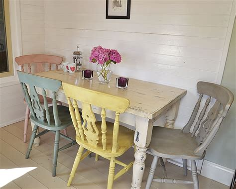 Sofa Shabby Chic Chester Yellow yellow chair color this fabulous dining set has four pastel chairs painted in duck egg blue