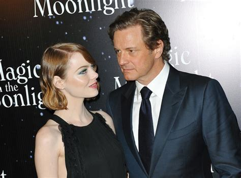 emma stone colin firth photos emma stone et colin firth tapis rouge parisien