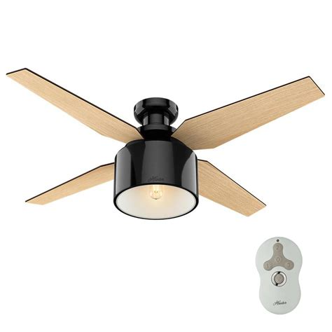 hunter hugger ceiling fans with lights hunter ambrose 52 in led indoor onyx bengal bronze three