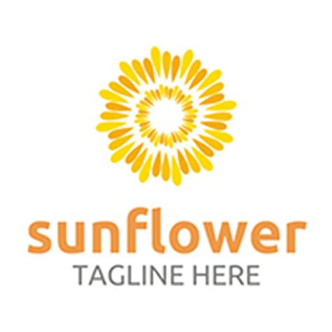sunflower logo template  acongraphic codester