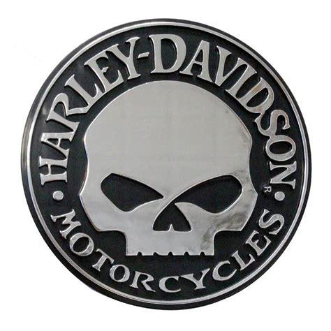Emblem Harley New Skull harley davidson willie g skull chrome injection molded emblem chrome cg9113 ebay