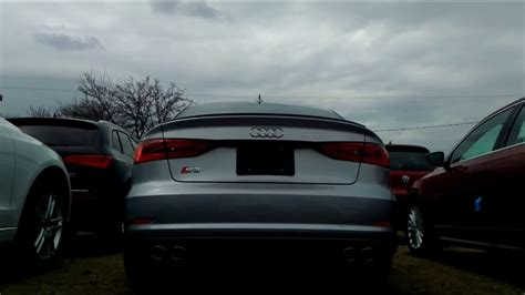 Audi S3 Sound by 2016 Audi S3 With Sound Enhancing Resonator Delete Exhaust