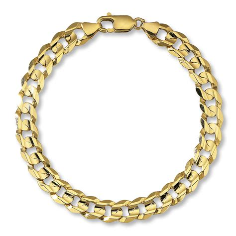 s curb link bracelet 10k yellow gold 9 quot length
