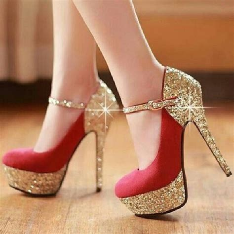 Wedges Glitter Dubai Emas Manis Cantik And Gold Glitter Heels Pictures Photos And Images