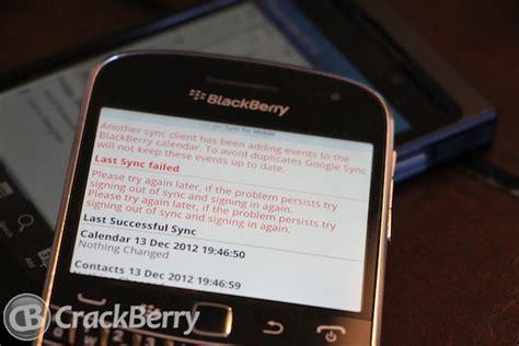 G Calendar Sync Gmail Sync Blackberry