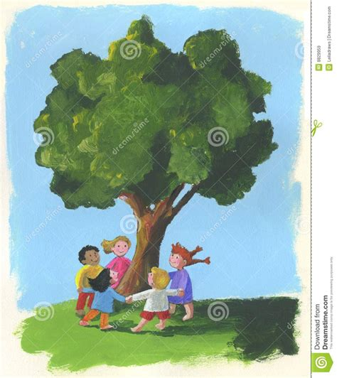 tree and children royalty free stock images image 8829959