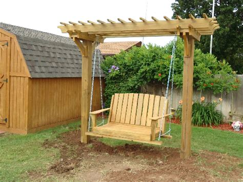 swing arbor plans arbor pergola swings on pinterest arbors garden arbor