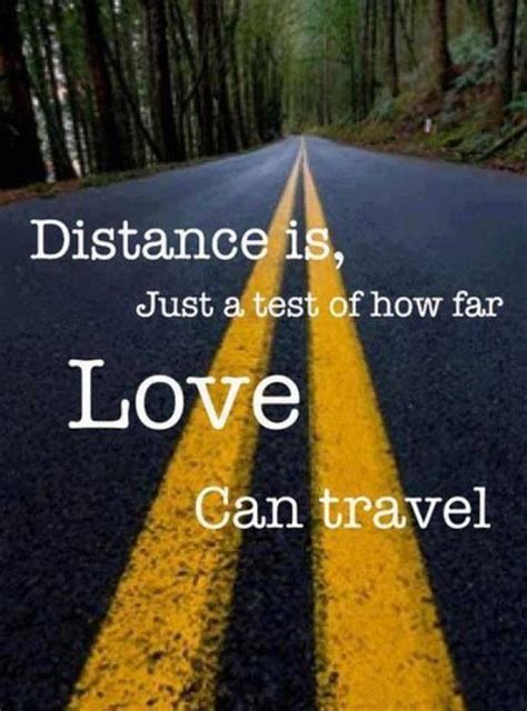 distance is just a test of how far can travel