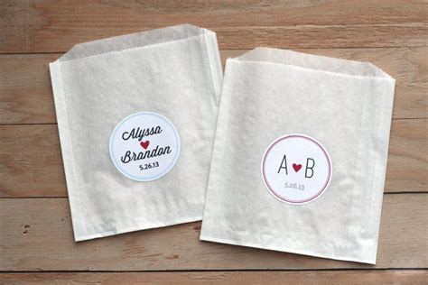 Wedding Favors Stickers by 25 Personalized Wedding Stickers Favor Bags Custom