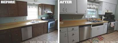 Can Laminate Kitchen Cabinets Be Painted Gallery For Gt Painting Laminate Cabinets Before And After