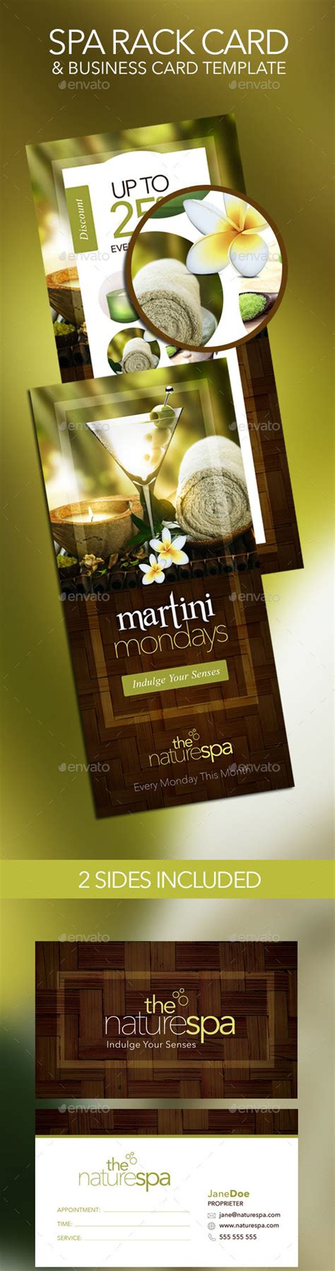 spa business card template 20 best salon and spa business cards designmaz