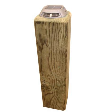 Square Wooden Solar Light Pillar Buy Square Wooden Solar Wooden Solar Lights