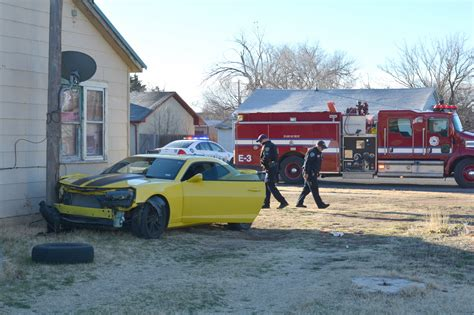 car hits house car hits house pole plainview daily herald