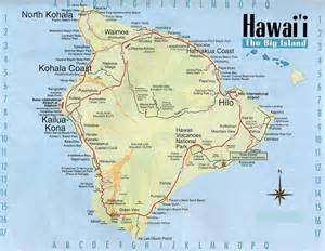 map of us states and hawaii map of hawaii