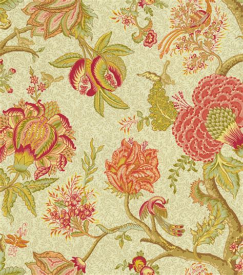 home decorating fabrics online home decor print fabric richloom darjeeling chablis at
