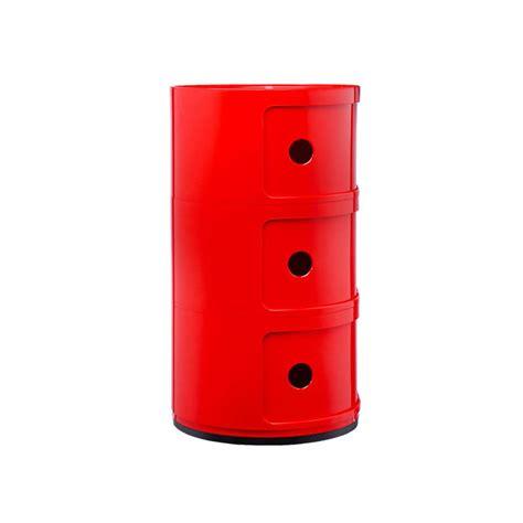 kartell mobili kartell mobile contenitore componibili 3 moduli rosso