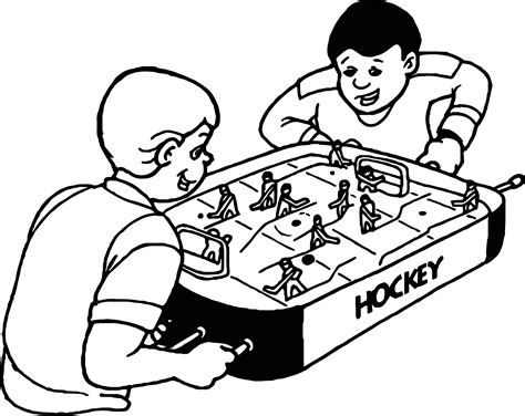 College Hockey Coloring Pages | boys play hockey board coloring page wecoloringpage
