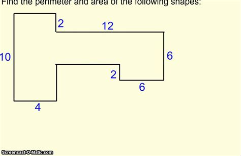 how to calculate perimeter perimeter and area of irregular shapes