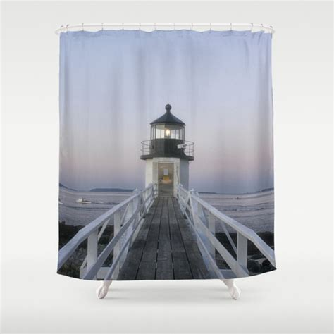 Lighthouse Shower Curtains Marshall Point Lighthouse Shower Curtain Shower Curtain