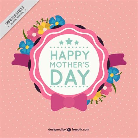 distintivos para el dia de la madre cute mother s day badge free vectors ui download