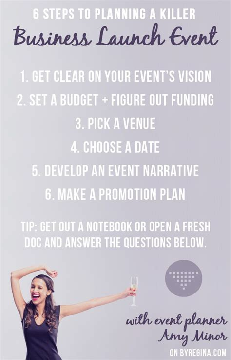 steps to planning office party how to plan a killer business launch event in 6 steps business launch business and creative