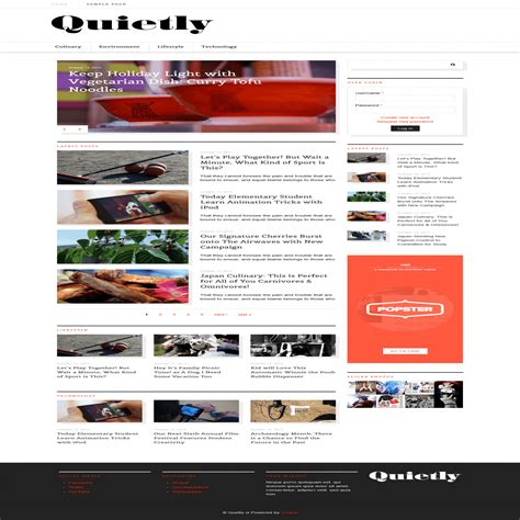 drupal themes live demo quietly magazine drupal theme themes templates