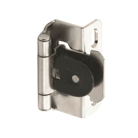 demountable cabinet hinges amerock single demountable 1 2 quot overlay hinge nickel pair