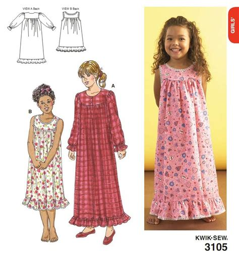 pattern for simple nightie all pattern images used with permission of kwik sew
