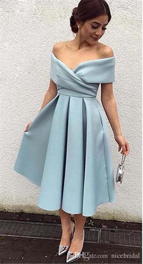 short satin prom dresses  beautiful long tea length