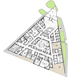 Triangular House Floor Plans connections triangular