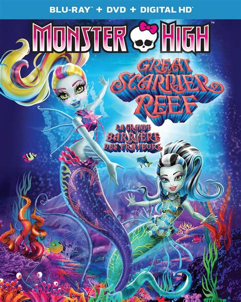 monster high great reef s carrier monster high great scarrier reef blu ray dvd combo