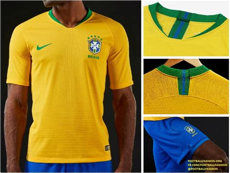 brazil 2018 world cup nike home and away kits football