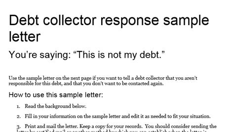 Dispute Letter To Debt Collector Dealing With Debt Collectors A Simple Do S And Don Ts List Bob Sullivan