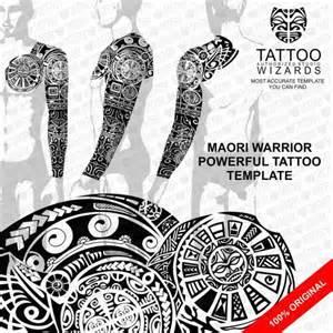 maori warrior powerful vector tattoo template stencil