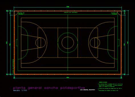 multicancha dwg section  autocad designs cad